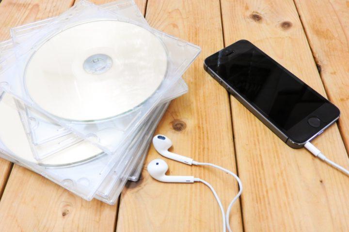 CDとスマホ